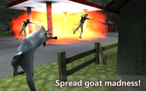 Screenshots of the Goat vs zombies simulator for Android tablet, phone.