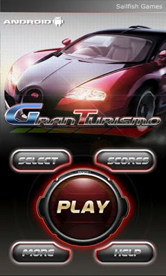 Screenshots of the Gran Turismo for Android tablet, phone.