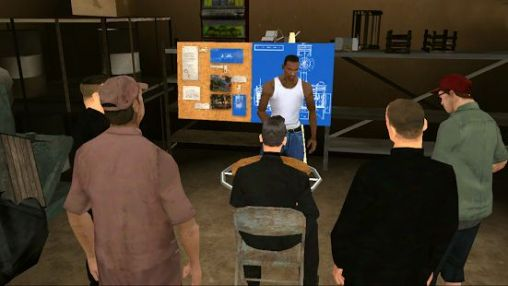 Screenshots of the Grand theft auto: San Andreas for Android tablet, phone.