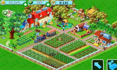 Screenshots of the Green Farm for Android tablet, phone.
