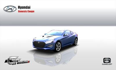 Screenshots of the GT Racing: Hyundai Edition for Android tablet, phone.