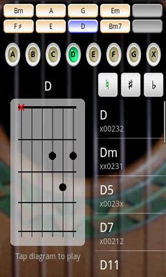 Screenshots of the Guitar: Solo for Android tablet, phone.