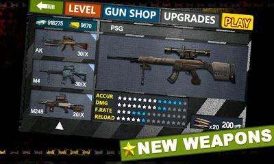 Screenshots of the Gun & Blood for Android tablet, phone.