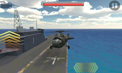 Screenshots of the Gunship-II for Android tablet, phone.