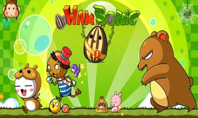 Screenshots of the HamSonic JumpJump for Android tablet, phone.