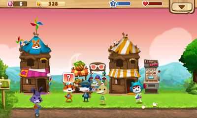 Screenshots of the Happy Street for Android tablet, phone.