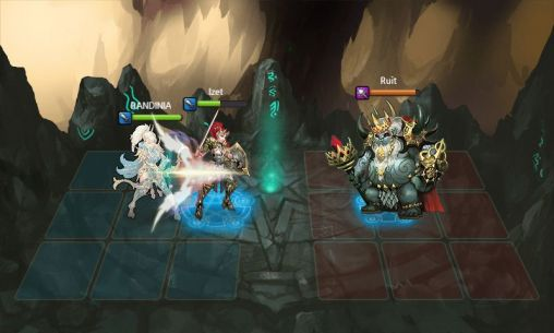 Screenshots of the Heroes of Atlan for Android tablet, phone.
