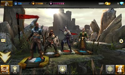 Screenshots of the Heroes of Dragon Age for Android tablet, phone.