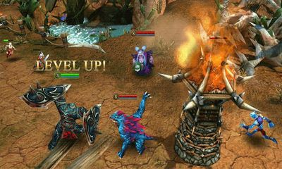 Screenshots of the Heroes of Order & Chaos for Android tablet, phone.