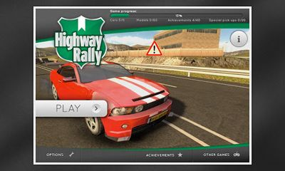 Screenshots of the Highway Rally for Android tablet, phone.