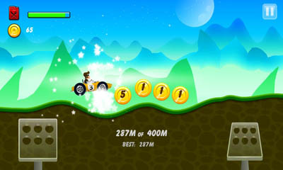 Screenshots of the Hill Racing for Android tablet, phone.