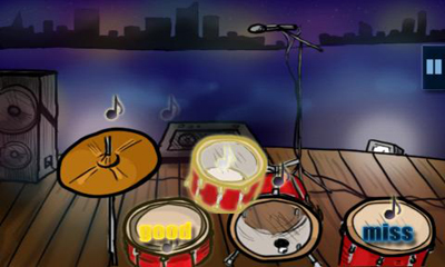 Screenshots of the Hit the Drums for Android tablet, phone.