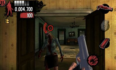 Screenshots of the House of the Dead Overkill LR for Android tablet, phone.
