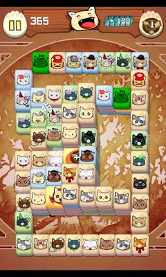 Screenshots of the Hungry Cat Mahjong for Android tablet, phone.