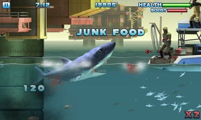 Screenshots of the Hungry Shark - Part 3 for Android tablet, phone.