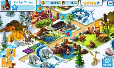 Screenshots of the Ice Age Village for Android tablet, phone.