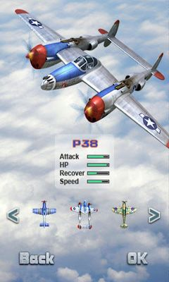 Screenshots of the iFighter 1945 for Android tablet, phone.