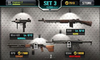 Screenshots of the Igun Zombie for Android tablet, phone.