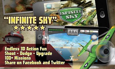 Screenshots of the Infinite Sky for Android tablet, phone.
