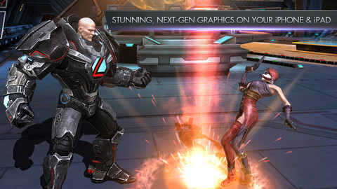 Screenshots of the Injustice: Gods among us for Android tablet, phone.