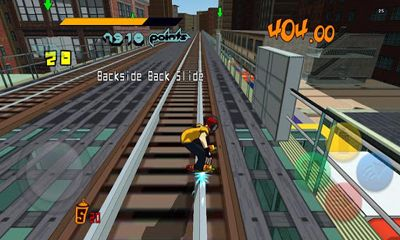 Screenshots of the Jet Set Radio for Android tablet, phone.