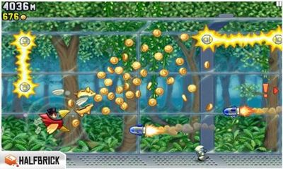 Jetpack Joyride - Android game screenshots. Gameplay Jetpack Joyride.