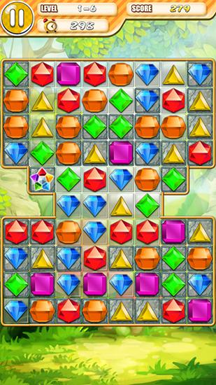 Screenshots of the Jewels: Digger saga for Android tablet, phone.