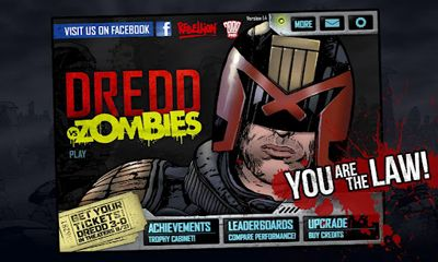 Screenshots of the Judge Dredd vs. Zombies for Android tablet, phone.