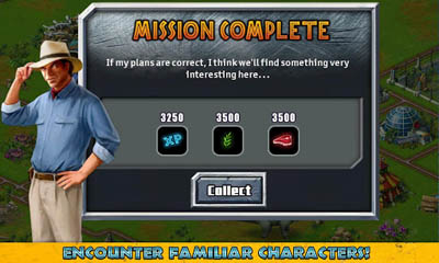 Screenshots of the Jurassic Park Builder for Android tablet, phone.