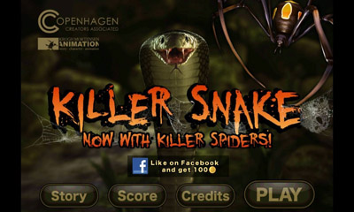 Screenshots of the Killer Snake for Android tablet, phone.