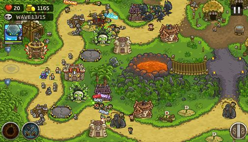 Screenshots of the Kingdom rush: Frontiers for Android tablet, phone.