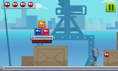Screenshots of the Knock Down Boxes for Android tablet, phone.