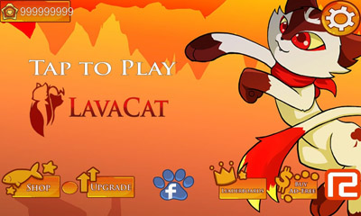 Screenshots of the LavaCat for Android tablet, phone.