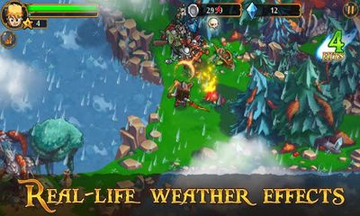 Screenshots of the League of Heroes for Android tablet, phone.