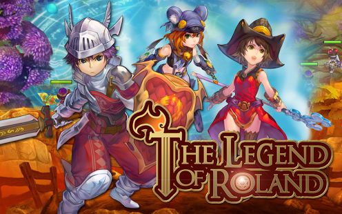 Screenshots of the Legend of Roland: Action RPG for Android tablet, phone.