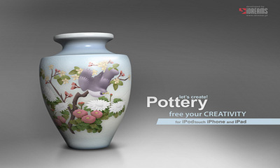 Screenshots of the Let's Create! Pottery for Android tablet, phone.