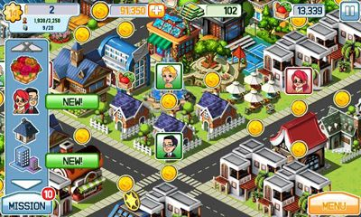 Screenshots of the Little Big City for Android tablet, phone.