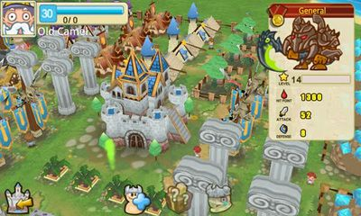 Screenshots of the Little Empire for Android tablet, phone.