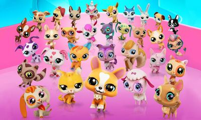 Screenshots of the Littlest Pet Shop for Android tablet, phone.