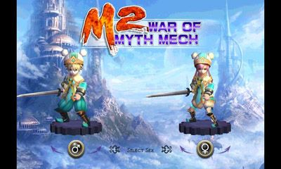 Screenshots of the M2: War of Myth Mech for Android tablet, phone.