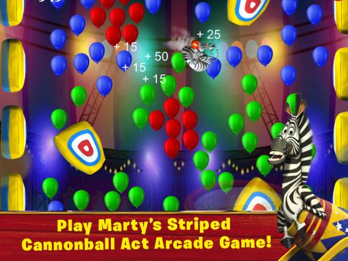 Screenshots of the Madagascar: Join the circus for Android tablet, phone.