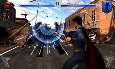 Screenshots of the Man of Steel for Android tablet, phone.