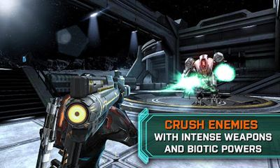 Screenshots of the Mass Effect Infiltrator for Android tablet, phone.