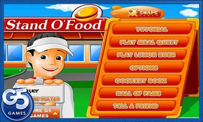Screenshots of the Stand O'Food for Android tablet, phone.