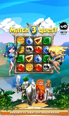 Screenshots of the Match 3 Quest for Android tablet, phone.