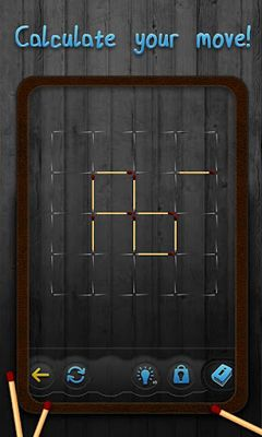 Screenshots of the Matchstick Puzzles for Android tablet, phone.