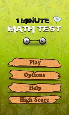 Screenshots of the 1 Minute Math Test for Android tablet, phone.