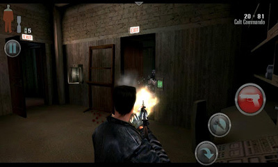 Screenshots of the Max Payne Mobile for Android tablet, phone.