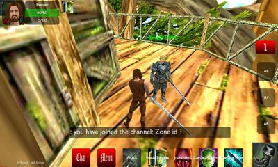 Screenshots of the Midgard Rising 3D MMORPG for Android tablet, phone.