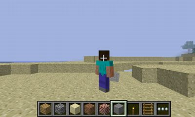 Screenshots of the Minecraft Pocket Edition for Android tablet, phone.